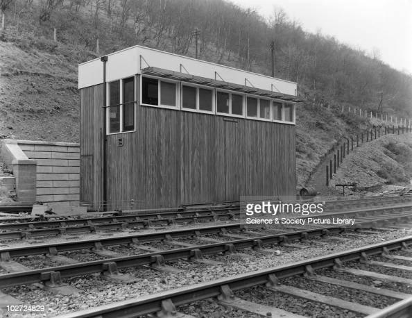 Hafodyrynys East signal box exterior 1959 Timber signal box exterior Hafodyrynys East 9th December 1959