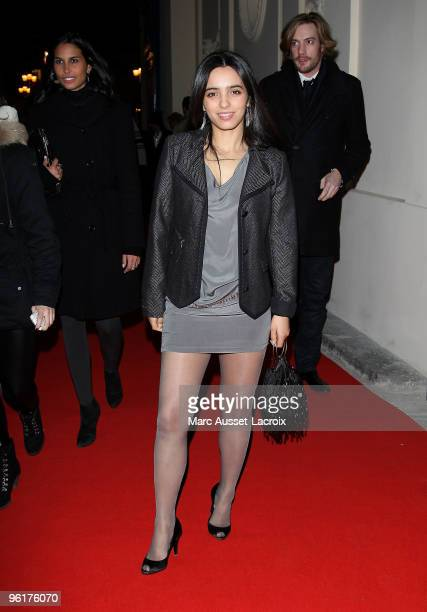 Hafsia Herzi attends Etam After Show at Hotel D'Evreux on January 25 2010 in Paris France