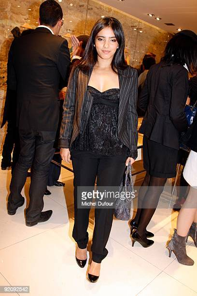 Hafsia Herzi attends the launch of John Galliano's new watches at John Galliano Shop on October 19 2009 in Paris France