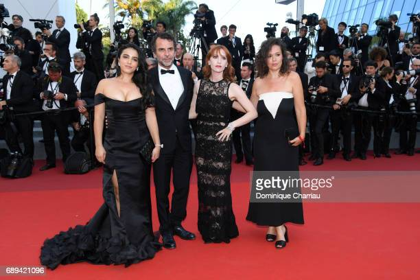 Hafsia Herzi JeanPaul Rouve and Audrey Fleurot and guest attend the Closing Ceremony during the 70th annual Cannes Film Festival at Palais des...