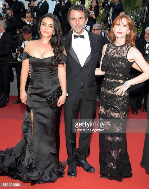 Hafsia Herzi JeanPaul Rouve and Audrey Fleurot attend the Closing Ceremony during the 70th annual Cannes Film Festival at Palais des Festivals on May...