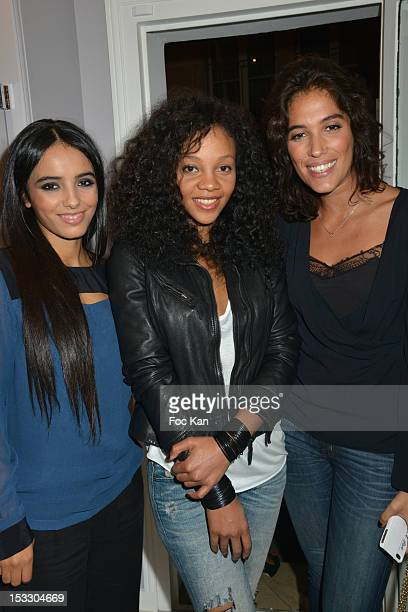 Hafsia Herzi Louisy Joseph and Laurie Cholewa attend the Vanessa Tugendhaft Jewellery Launch Cocktail Paris Fashion Week Womenswear Spring / Summer...