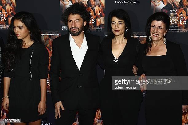 Hafsia Herzi Radu Mihaileanu Hiam Abbas and Biyouna attend 'La Source des Femmes' Premiere at Theatre du Chatelet on October 24 2011 in Paris France