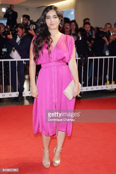 Hafsia Herzi walks the red carpet ahead of the 'Mektoub My Love Canto Uno' screening during the 74th Venice Film Festival at Sala Grande on September...