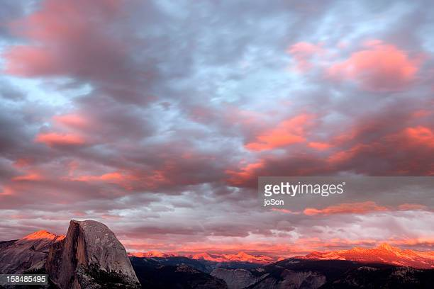 Haft Dome from Glacier Point, sunrise