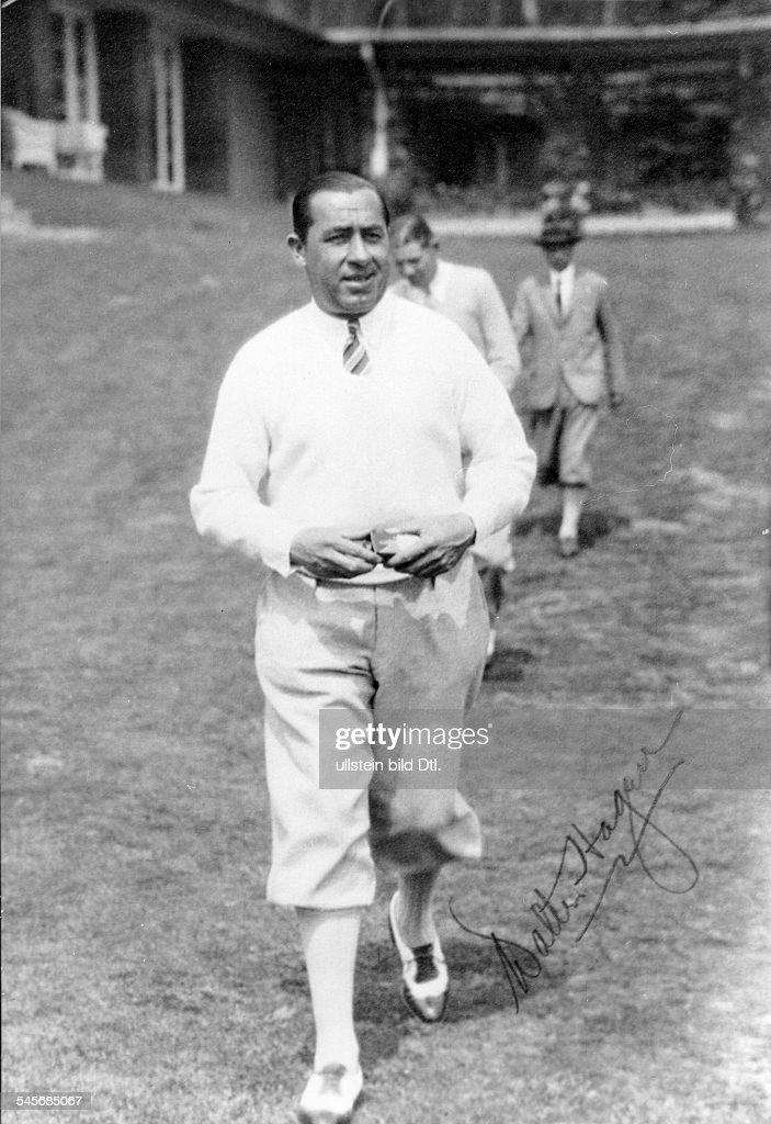 Hagen Walter Golfspieler USAAufnahme 1928
