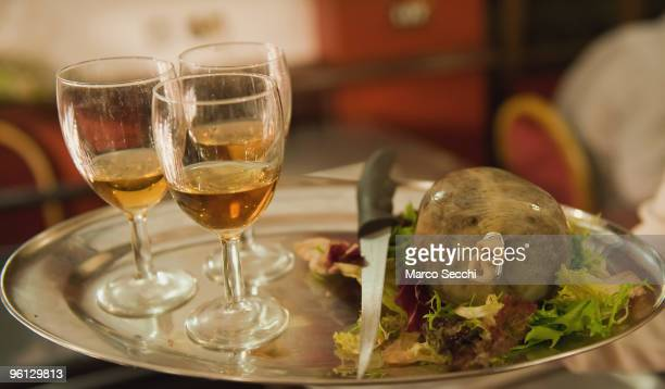 Haggis and Whisky are the dinner star attraction for people who celebrate Burns night on Monday on January 23 2010 in London England Scots across the...