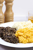 A traditional Scottish Haggis with potatoes and swede.
