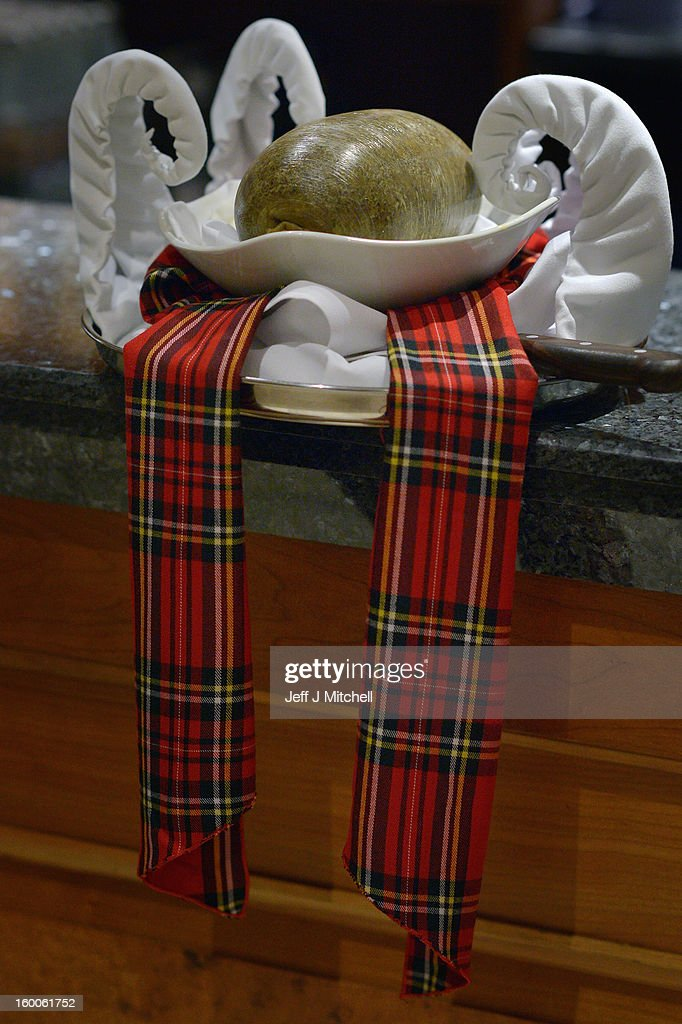 A haggis sits on the bar at the Lord Provost Burns Supper, in the Thistle Hotel on on January 25, 2012 in Glasgow, Scotland. Burns suppers will be held today to commemorate the life of the poet Robert Burns, who was born on this day in 1759.