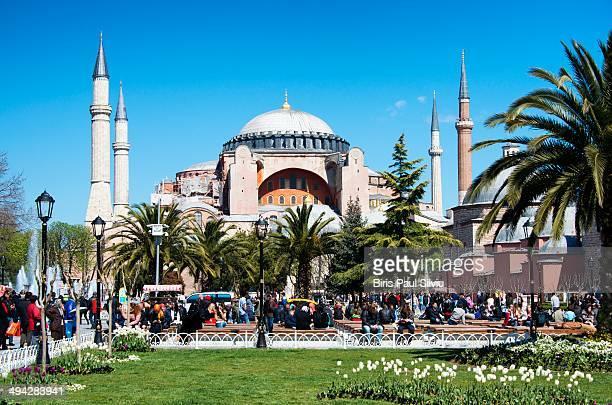 CONTENT] Hagia Sophia and Sultan Ahmet Square in Turkey in late march 2014