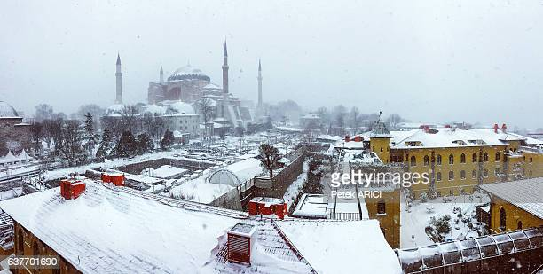 Hagia Sophia in winter season at Istanbul,Turkey