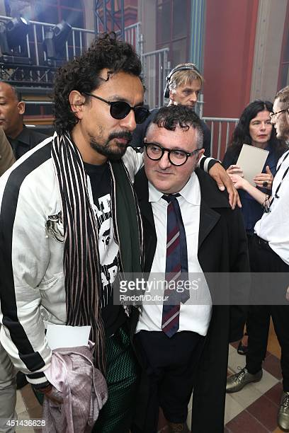 Haider Ackermann and Albert Elbaz attend the Lanvin show as part of the Paris Fashion Week Menswear Spring/Summer 2015 on June 29 2014 in Paris France