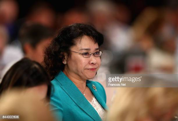 Haidi Zhang of China looks on during the IPC General Assembly and Conference 2017 at Abu Dhabi National Exhibition Centre on September 8 2017 in Abu...