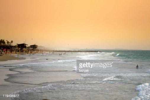 ハイファビーチの夕日