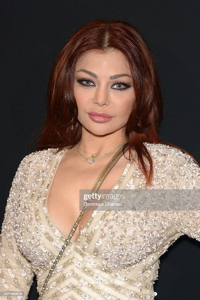 <a gi-track='captionPersonalityLinkClicked' href=/galleries/search?phrase=Haifa+Wehbe&family=editorial&specificpeople=587264 ng-click='$event.stopPropagation()'>Haifa Wehbe</a> attends the Elie Saab Haute Couture Spring Summer 2016 show as part of Paris Fashion Week on January 27, 2016 in Paris, France.