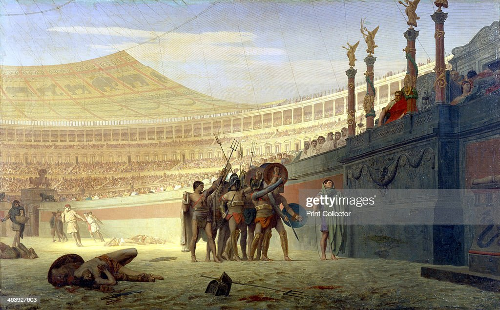 gladiatorial contest in rome Rome's first gladiatorial contest took place in 246 bc and was held in the forum boarium it was given by marcus and decimus brutus as a funeral gift for their dead.