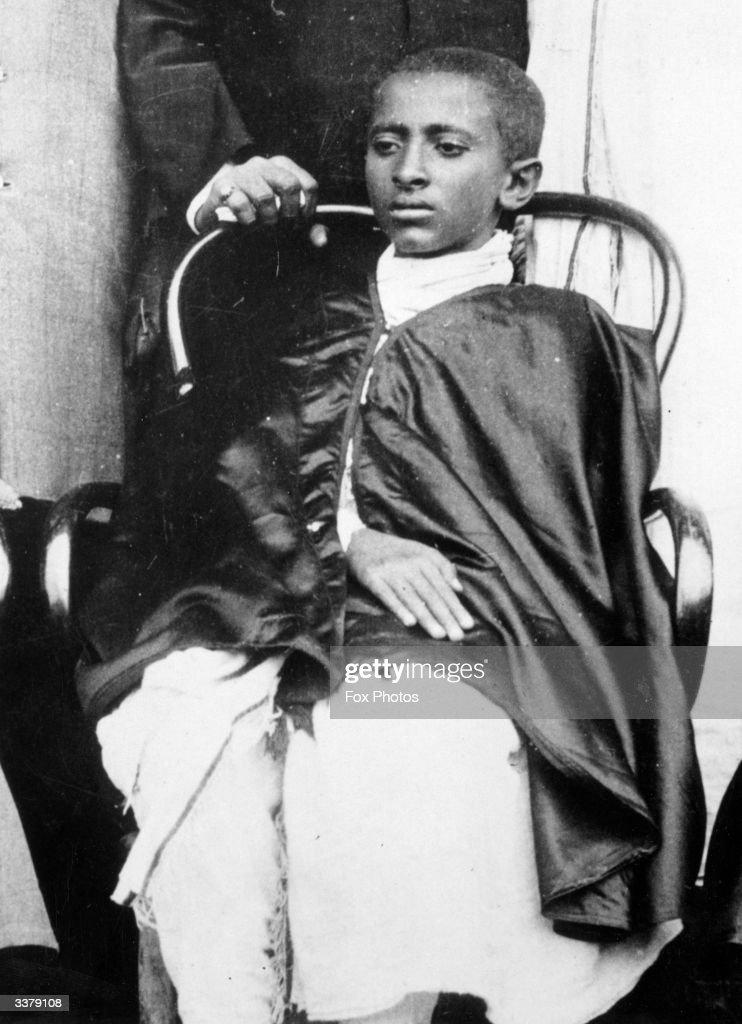 Haile Selassie (1891 - 1975), emperor of Ethiopia from 1930, when Prince Ras Tafari.
