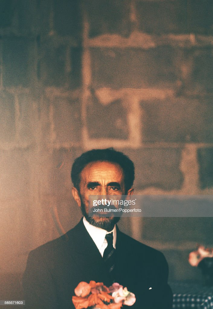 Haile Selassie I (1892 - 1975), Emperor of Ethiopia, in Ethiopia, circa 1965.