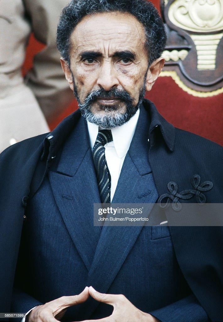 Haile Selassie I (1892 - 1975), Emperor of Ethiopia, in his palace in Ethiopia, circa 1965.