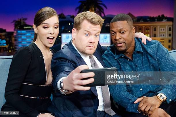Hailee Steinfeld and Chris Tucker chat with James Corden during 'The Late Late Show with James Corden' Thursday November 10 2016 On The CBS...