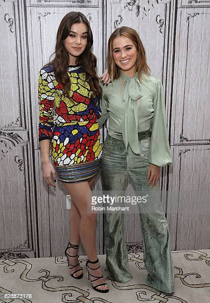 Hailee Steinfeld and Haley Lu Richardson attend The Build Series presents 'The Edge Of Seventeen' at AOL HQ on November 17 2016 in New York City