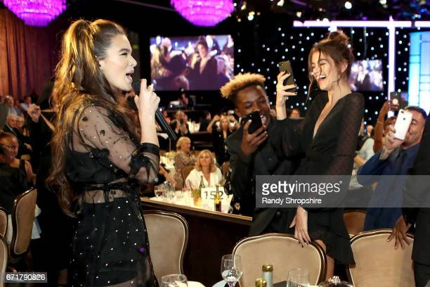 Hailee Steinfeld and Kaia Gerber attend JDRF LA's IMAGINE Gala to benefit type 1 diabetes research at The Beverly Hilton on April 22 2017 in Beverly...