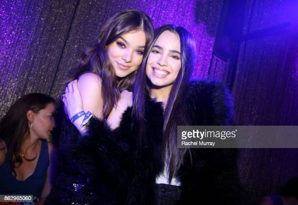 Hailee Steinfeld and Sofia Carson at Justin Tranter And GLAAD Present 'Believer' Spirit Day Concert at Sayer's Club on October 18 2017 in Los Angeles...