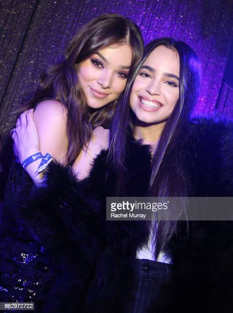 Hailee Steinfeld and Sofia Carson attend the 'Believer' Spirit Day Concert presented by Justin Tranter and GLAAD at Sayer's Club on October 18 2017...
