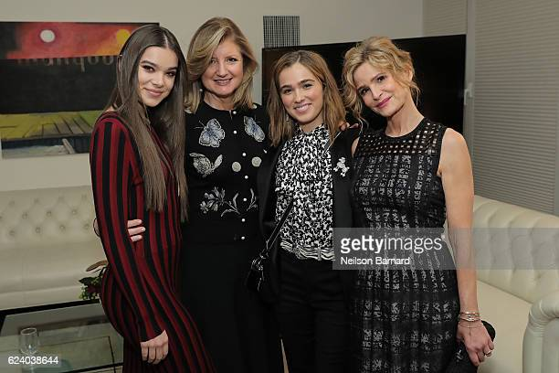 Hailee Steinfeld Arianna Huffington Haley Lu Richardson and Kyra Sedgwick attend 'A Conversation On Trailblazers Women In The Workplace with Ariana...