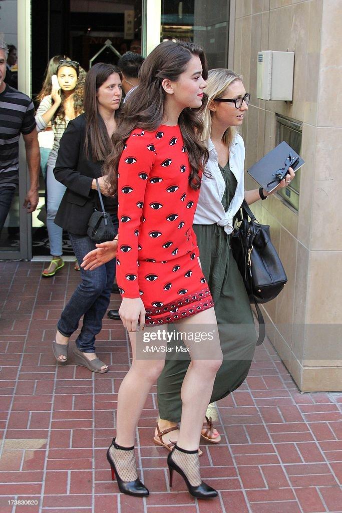 Hailee Steinfeld as seen on July 17, 2013 in Los Angeles, California.
