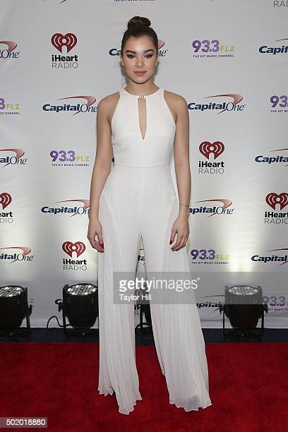 Hailee Steinfeld attends 933 FLZ's 2015 Jingle Ball at Amalie Arena on December 19 2015 in Tampa Florida