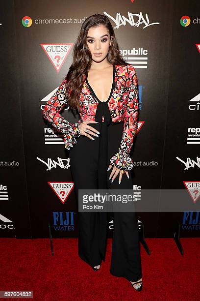Hailee Steinfeld attends a celebration with Republic Records and Guess after the 2016 MTV Video Music Awards at Vandal with cocktails by Ciroc on...