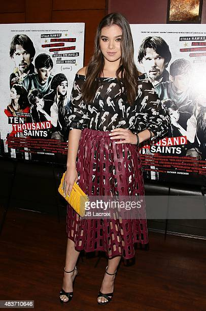 Hailee Steinfeld attends a special screening of Archer Gray's 'Ten Thousand Saints' on August 11 2015 in Century City California