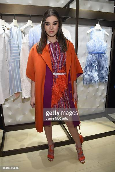 Hailee Steinfeld attends FENDI celebrates the opening of the New York flagship store on February 13 2015 in New York City