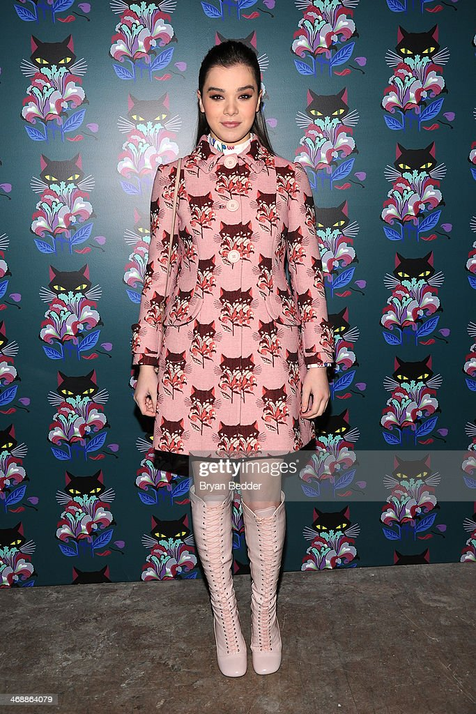 Hailee Steinfeld attends Miu Miu Women's Tales 7th Edition - 'Spark & Light' Screening - Arrivals at Diamond Horseshoe on February 11, 2014 in New York City.