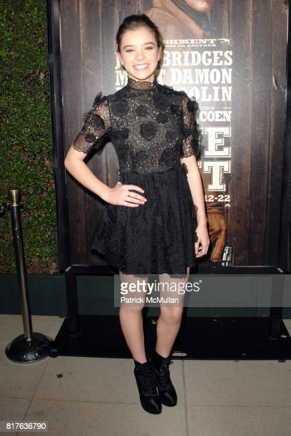 Hailee Steinfeld attends PreRelease Industry Screening of TRUE GRIT at Academy of Motion Picture Arts and Sciences on December 9 2010 in Beverly...