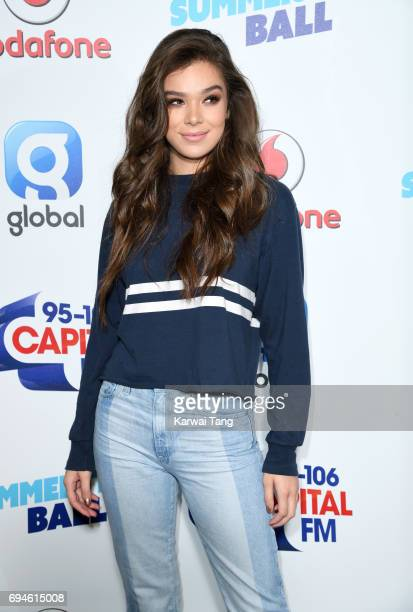 Hailee Steinfeld attends the Capital Summertime Ball at Wembley Stadium on June 10 2017 in London United Kingdom