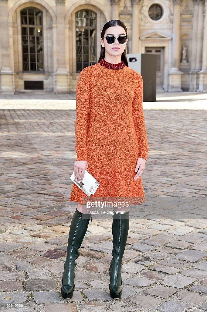 Hailee Steinfeld attends the Christian Dior show as part of the Paris Fashion Week Womenswear Fall/Winter 2015/2016 on March 6 2015 in Paris France