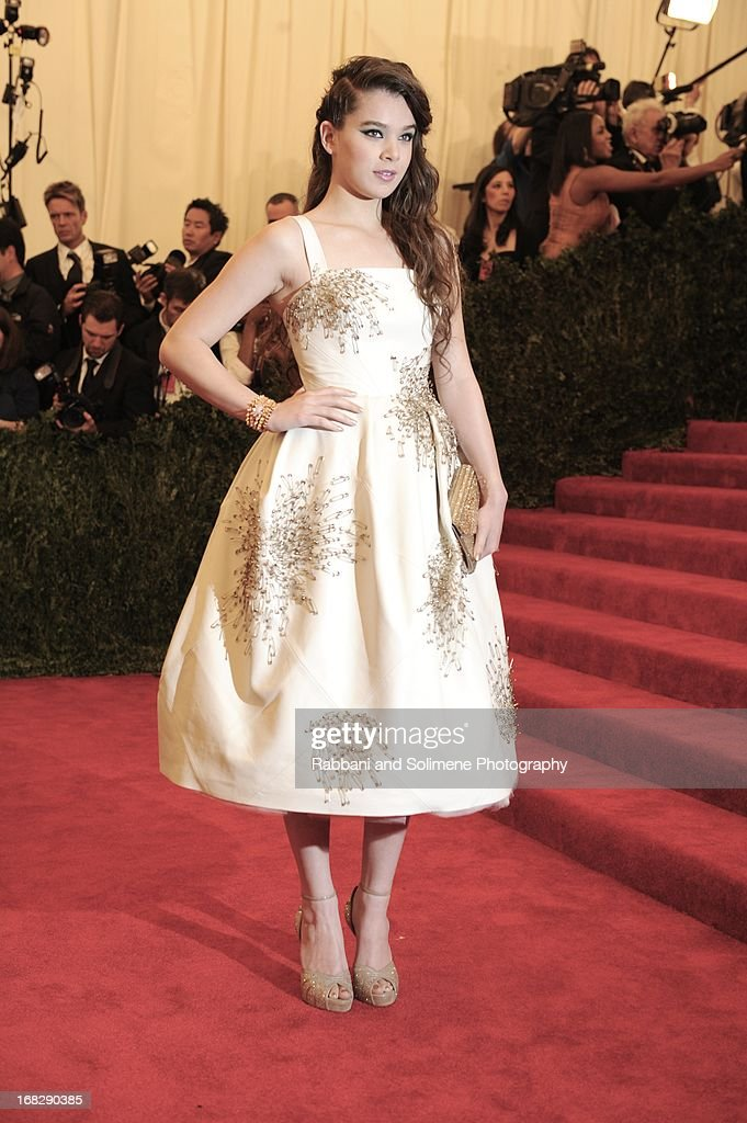 Hailee Steinfeld attends the Costume Institute Gala for the 'PUNK: Chaos to Couture' exhibition at the Metropolitan Museum of Art on May 6, 2013 in New York City.