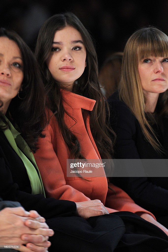 <a gi-track='captionPersonalityLinkClicked' href=/galleries/search?phrase=Hailee+Steinfeld&family=editorial&specificpeople=7223409 ng-click='$event.stopPropagation()'>Hailee Steinfeld</a> attends the Max Mara fashion show during Milan Fashion Week Womenswear Fall/Winter 2013/14 on February 21, 2013 in Milan, Italy.