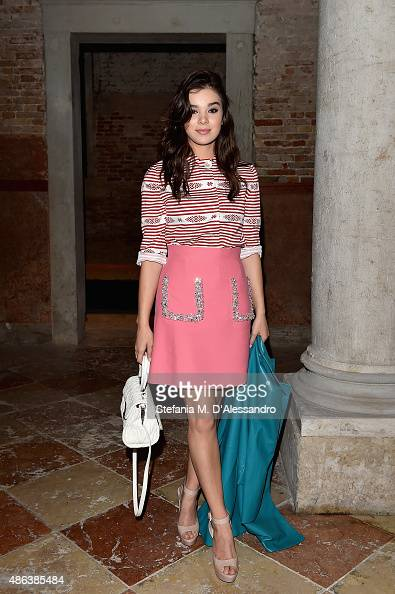 Hailee Steinfeld attends the Miu Miu Women's Tales Dinner during the 72nd Venice Film Festival at Ca' Corner della Regina on September 3 2015 in...