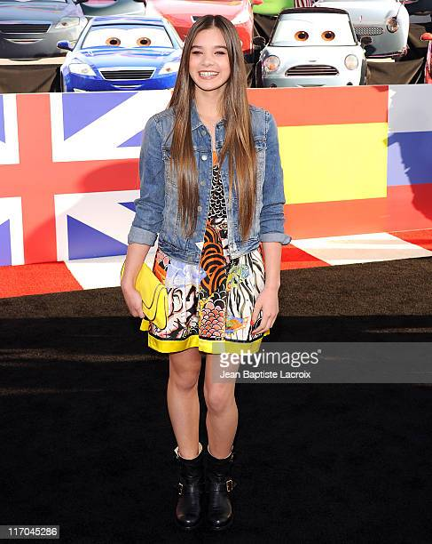 Hailee Steinfeld attends the Premiere of Walt Disney Pictures 'Cars 2' at the El Capitan Theatre on June 18 2011 in Hollywood California