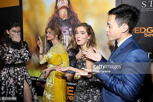 Hailee Steinfeld Kyra Sedgwick Haley Lu Richardson and Hayden Szeto attend the screening of STX Entertainment's 'The Edge of Seventeen' at Regal LA...