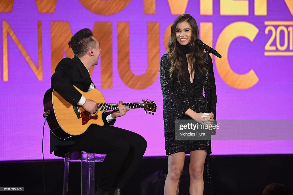 Hailee Steinfeld performs at the Billboard Women in Music 2016 event on December 9, 2016 in New York City.