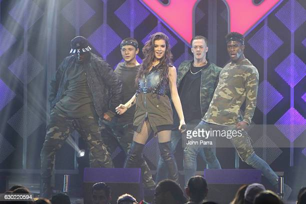 Hailee Steinfeld performs at the Y100's Jingle Ball 2016 at BBT Center on December 18 2016 in Sunrise Florida