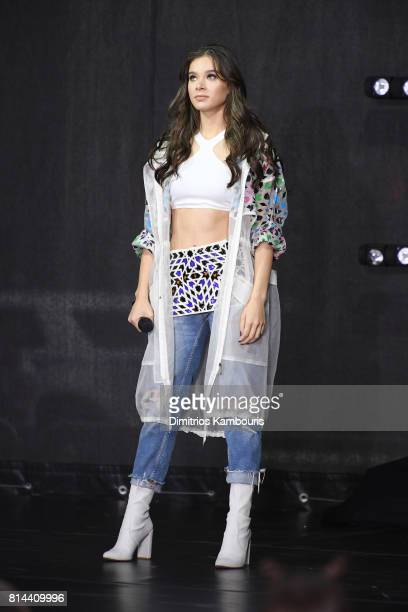 Hailee Steinfeld performs on NBC's 'Today' at Rockefeller Plaza on July 14 2017 in New York City