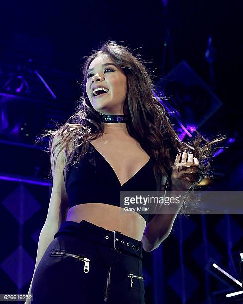 Hailee Steinfeld performs onstage at 1061 KISS FM's Jingle Ball 2016 Presented by Capital One at the American Airlines Center on November 29 2016 in...