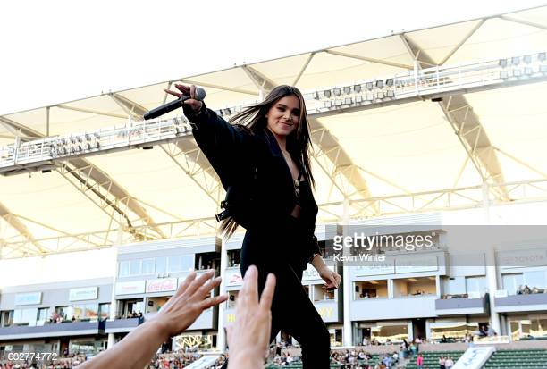 Hailee Steinfeld performs onstage during 1027 KIIS FM's 2017 Wango Tango at StubHub Center on May 13 2017 in Carson California