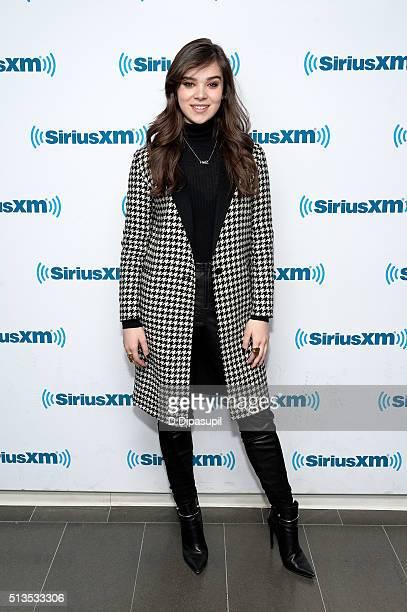 Hailee Steinfeld visits SiriusXM Studios on March 3 2016 in New York City