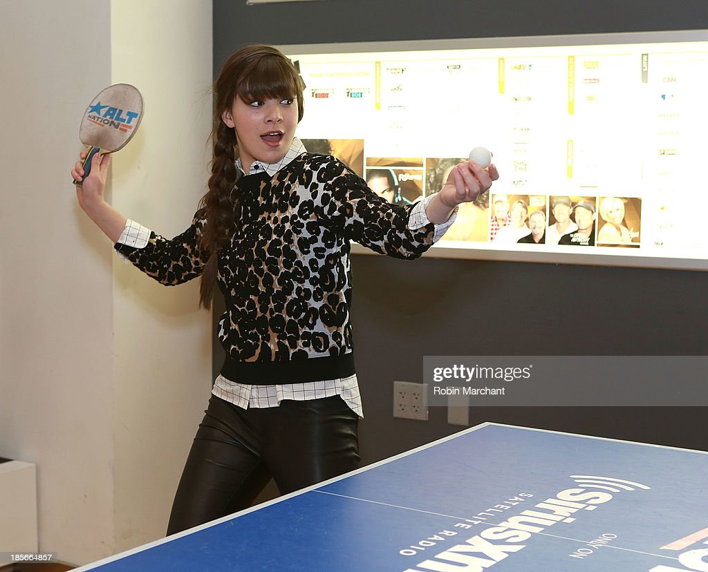 <a gi-track='captionPersonalityLinkClicked' href=/galleries/search?phrase=Hailee+Steinfeld&family=editorial&specificpeople=7223409 ng-click='$event.stopPropagation()'>Hailee Steinfeld</a> visits SiriusXM Studios on October 23, 2013 in New York City.